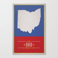 ohio Canvas Prints featuring OHIO by Matthew Justin Rupp