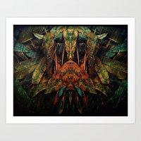 moth Art Prints featuring moth by AmeliaPeelArt