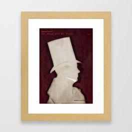 Robert Louis Stevenson, Dr. Jekyll and Mr. Hyde - Minimalist Literary Design Framed Art Print
