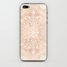 Mandala Rose Gold Pink Shimmer on Light Cream iPhone & iPod Skin