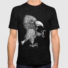 Grouchy Bird Tri-Black Mens Fitted Tee SMALL
