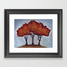 Fall Crepe Myrtles Framed Art Print