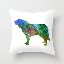 Bosnian and Herzegovinian Croatian Shepherd Dog in watercolor 2 Throw Pillow