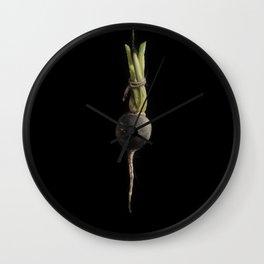 Vegetable Vanitas: The Beet Painting by Brooke Figer Wall Clock