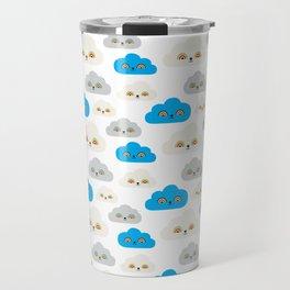 Rainbow Power Clouds Travel Mug
