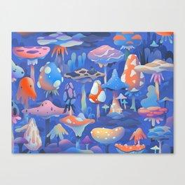 Shroom garden Canvas Print