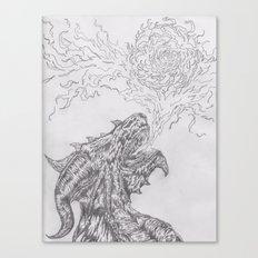 dragon fire artist Canvas Print
