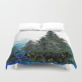 GREEN MOUNTAIN PINES LANDSCAPE Duvet Cover