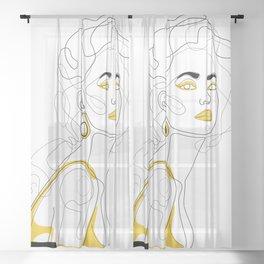 In Lemon Sheer Curtain