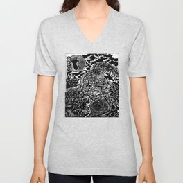 Sasquatch Siting Unisex V-Neck
