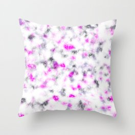 Pink Grey and White Soft Marble Pattern Throw Pillow