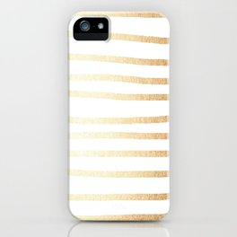 Simply Drawn Stripes Golden Copper Sun iPhone Case