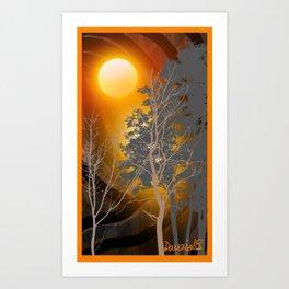 Sunset on  110 Art Print