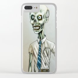 tim the zombie Clear iPhone Case