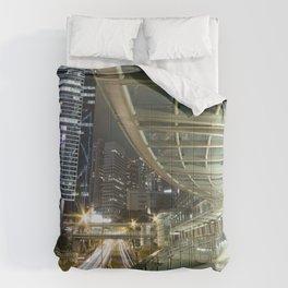 Hong Kong-Night View Comforters