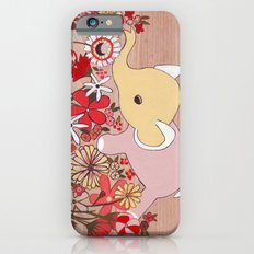 Elephant in the flowers Slim Case iPhone 6s