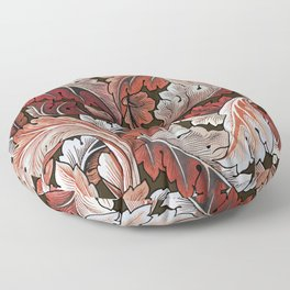 Art Nouveau William Morris Autumn Acanthus Leaves Floor Pillow