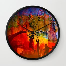 A summer in New York Wall Clock