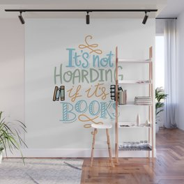 Hoarding Books Summer Colors Wall Mural
