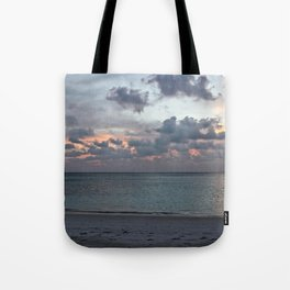 Sunset in the Maldives Tote Bag