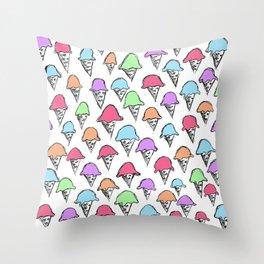 ice cream ice cream -4- Throw Pillow