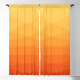 Orange and yellow ombre polygonal geometric pattern Blackout Curtain