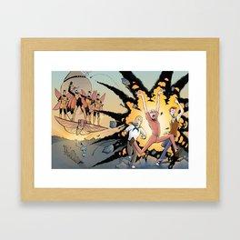 The Monarch Vs Team Venture Framed Art Print