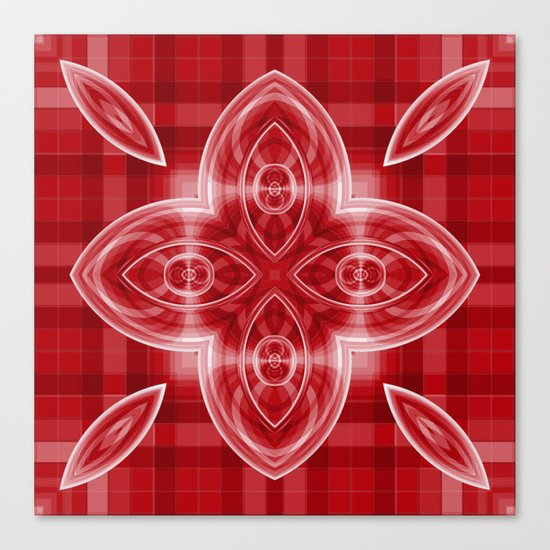 Pattern red Canvas Print