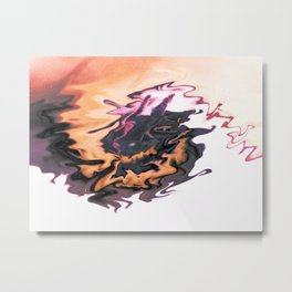 Dragon of Fire and Cloud Metal Print