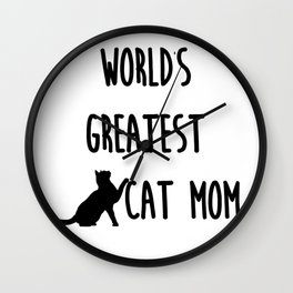 World's Greatest Cat Mom Wall Clock