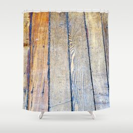 Floorboards Shower Curtain