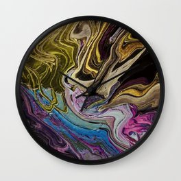 Pour a Flat Square Marble Wall Clock