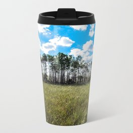 Cypress Trees and Blue Skies Travel Mug