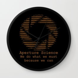 Aperture Science Wall Clock