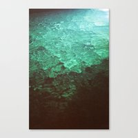 pool Canvas Prints featuring Pool by Dulcinee