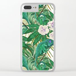 Chameleons and Camellias Clear iPhone Case