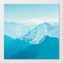SUN & MOON V2 Canvas Print
