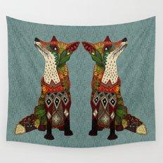 fox love juniper Wall Tapestry