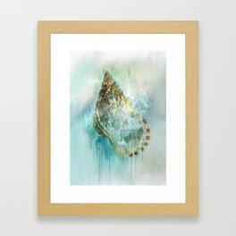 Shell Splash Framed Art Print