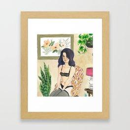 Margaret: Boudoir Girl Framed Art Print