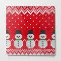 Knitted snowman pattern by knittedcake