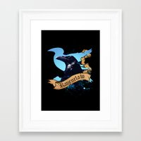 ravenclaw Framed Art Prints featuring Ravenclaw by Markusian