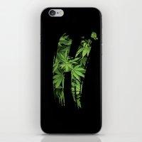 marijuana iPhone & iPod Skins featuring Marijuana H by Spyck