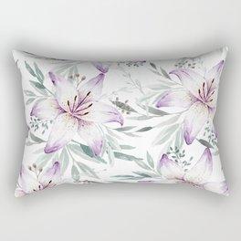 Lilium & Eucalyptus pattern Rectangular Pillow