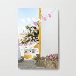 Pink Flags, Óbidos  Metal Print