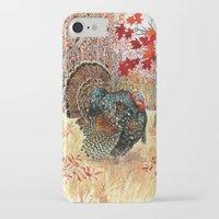 turkey iPhone & iPod Cases featuring Woodland Turkey by Edith Jackson-Designs