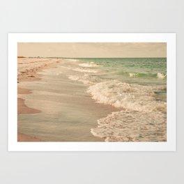 Tropical Beach Love Art Print