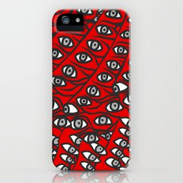 Freddie Eyeballs Red iPhone Case