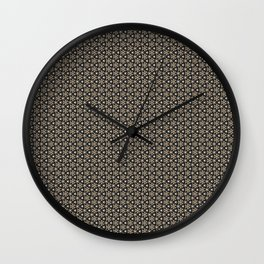 Brown Gold Elegant Pattern Wall Clock