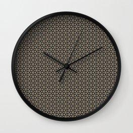 Brown Gold Elegant Pattern Wall Clock